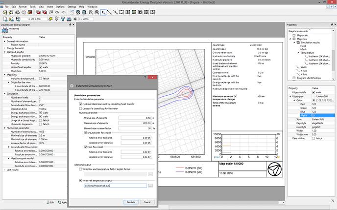 Screenshot of GED programm user interface
