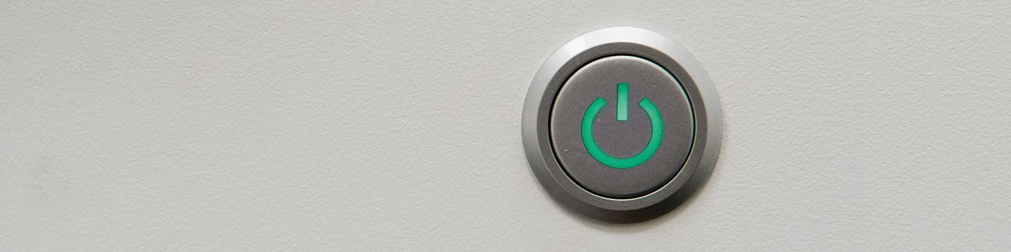"Green digital ""on"" button"