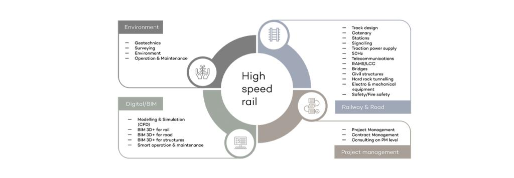 Infographic showing the competencies needed to conduct an HSR project