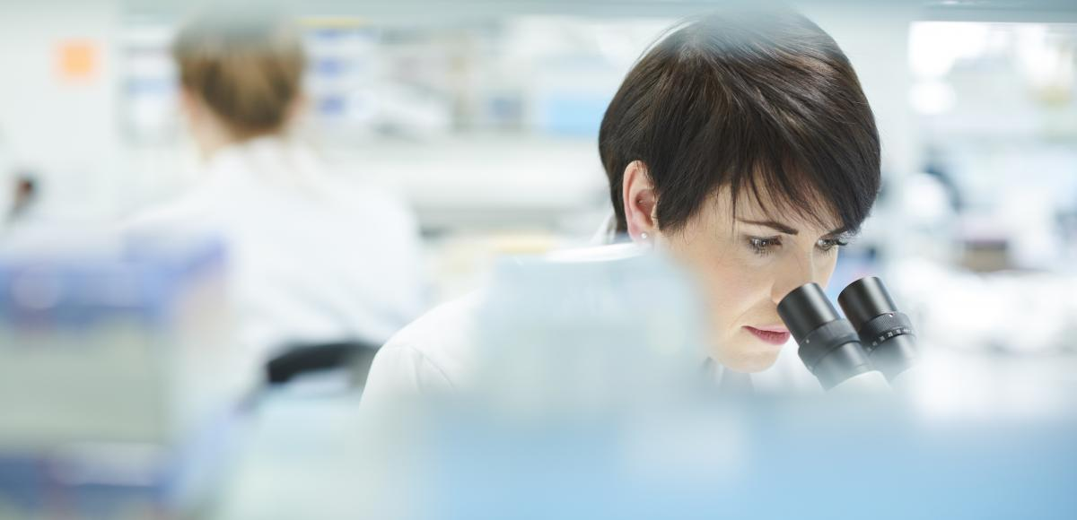 Woman in lab environment