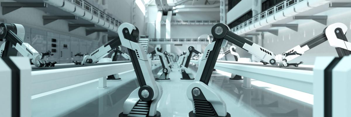 AI Robots in Manufacturing plant