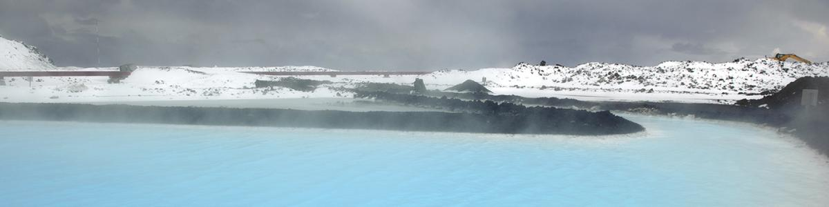 Steam rising from northern geothermal lake