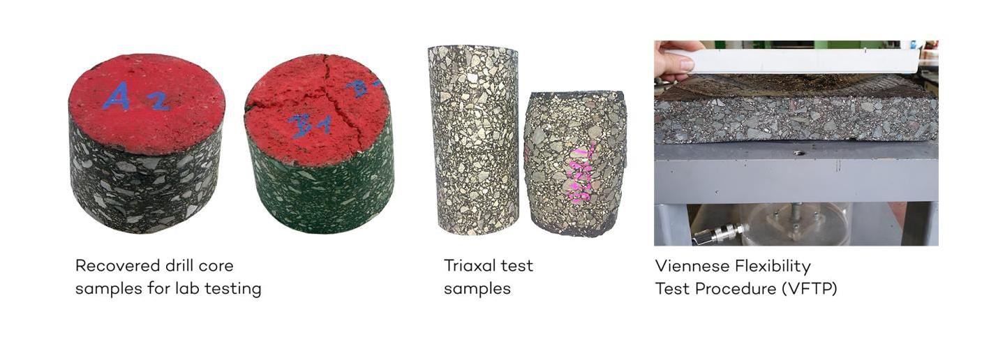Drill core and Triaxal samples and VFTP
