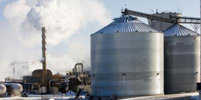 Ethanol Producing Biorefinery on a Cold Winter Day