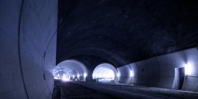 TBM road tunnel under construction