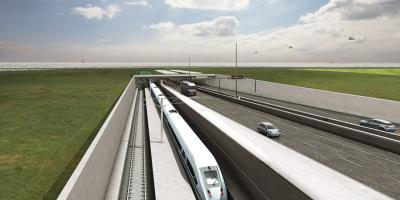 Infra-Fehmarn Belt tunnel, Denmark - road, rail