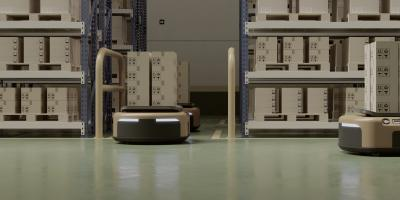 Connected automated guided vehicles (AGV)