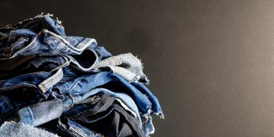 Lots of jeans for recycling