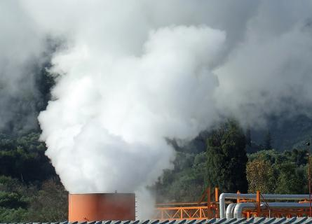Steam from Gümüsköy Geothermal power plant