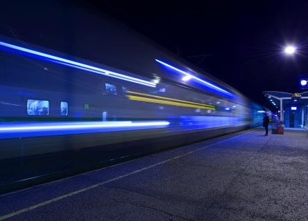 Picture of a moving train