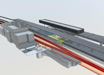 CH_BU Civil_Project_Passenger subway_Station_Küsnacht ZH_BIM_Visualisaton
