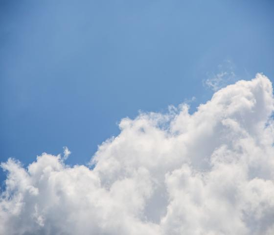 Picture of clouds in a blue sky
